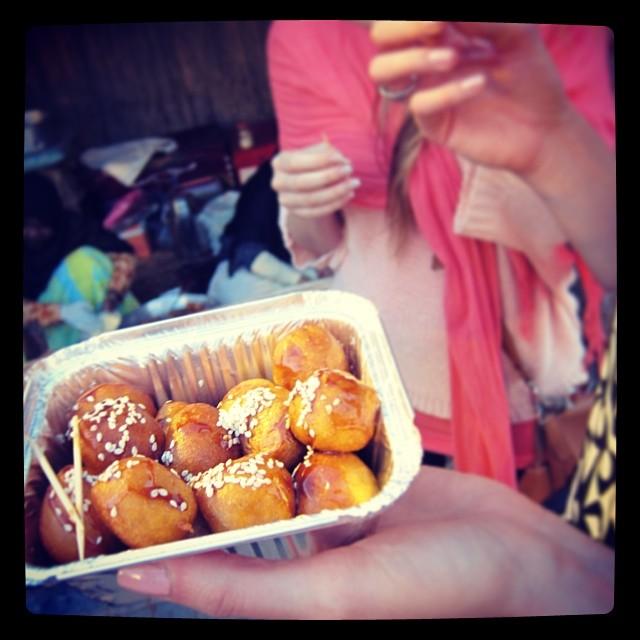 Dubai sweets deep fried pancake