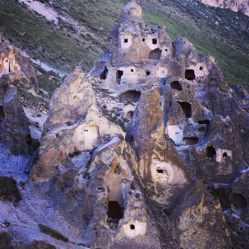 cave dwellings in Turkey