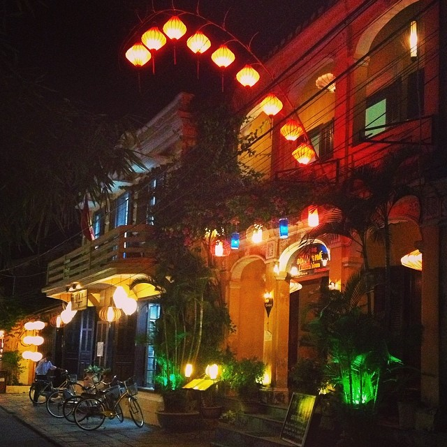 Lanterns hanging in streets of Hoi An