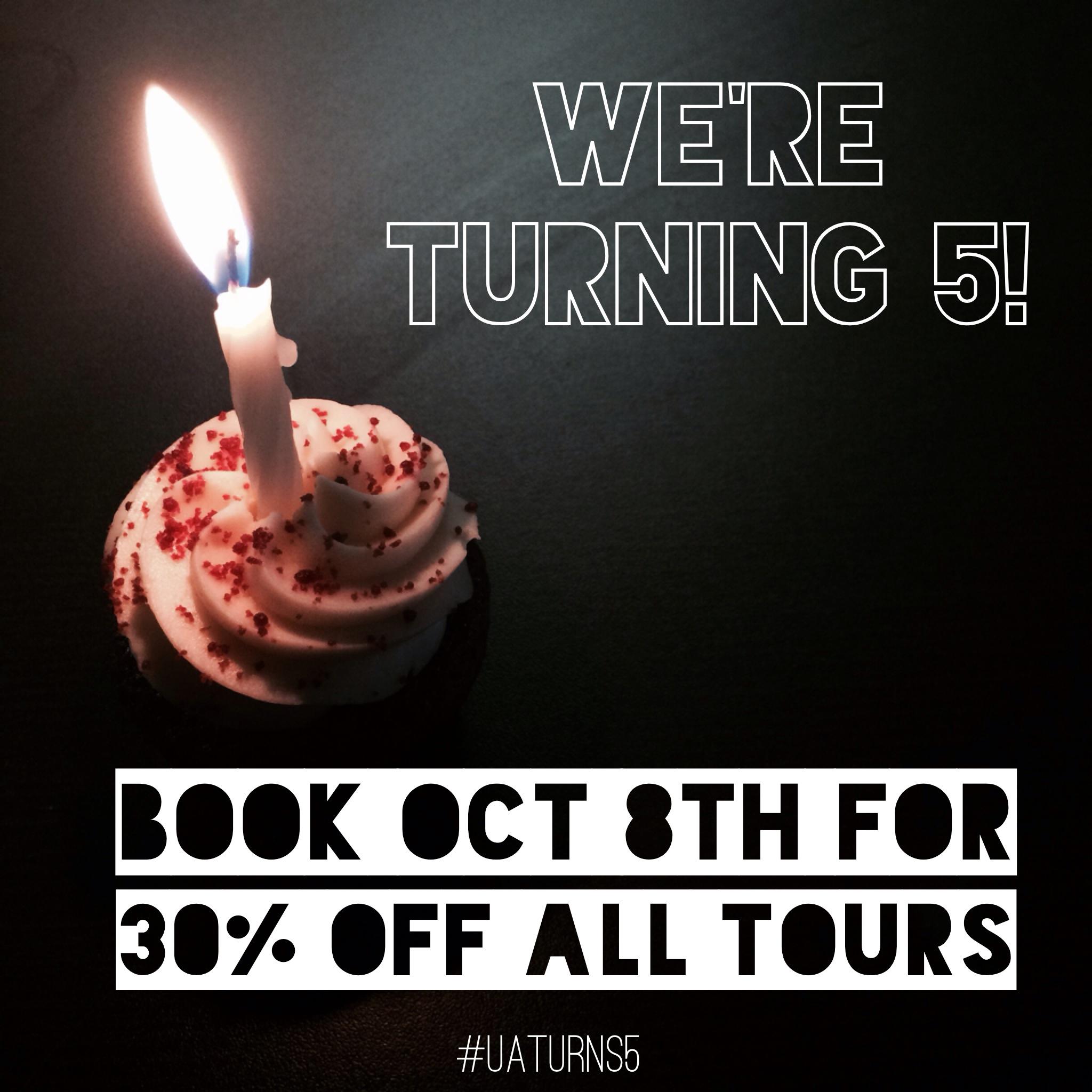 Urban Adventures Birthday Sale