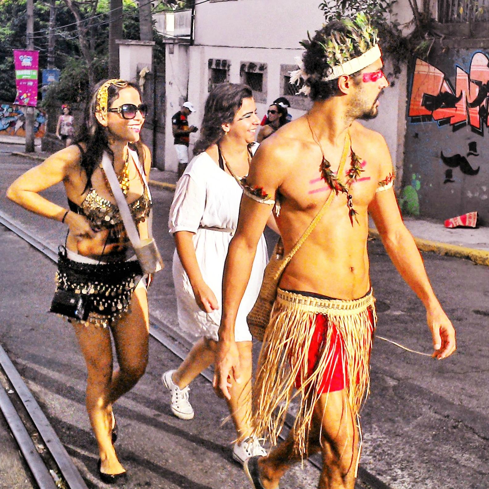 rio carnival revellers