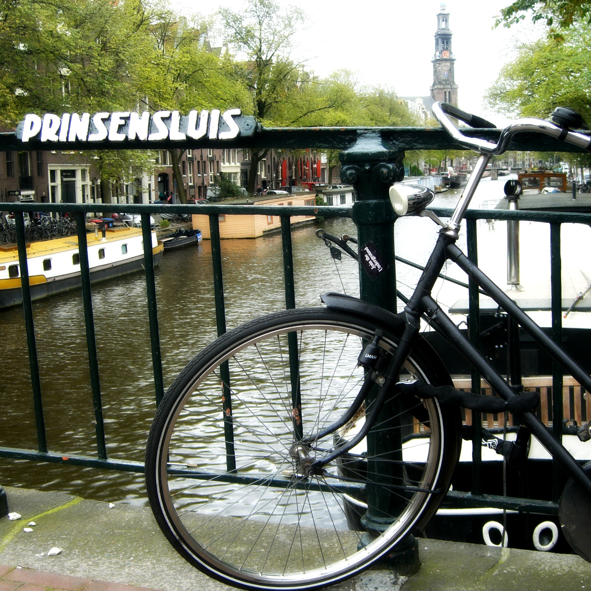 bike along canal in Amsterdam