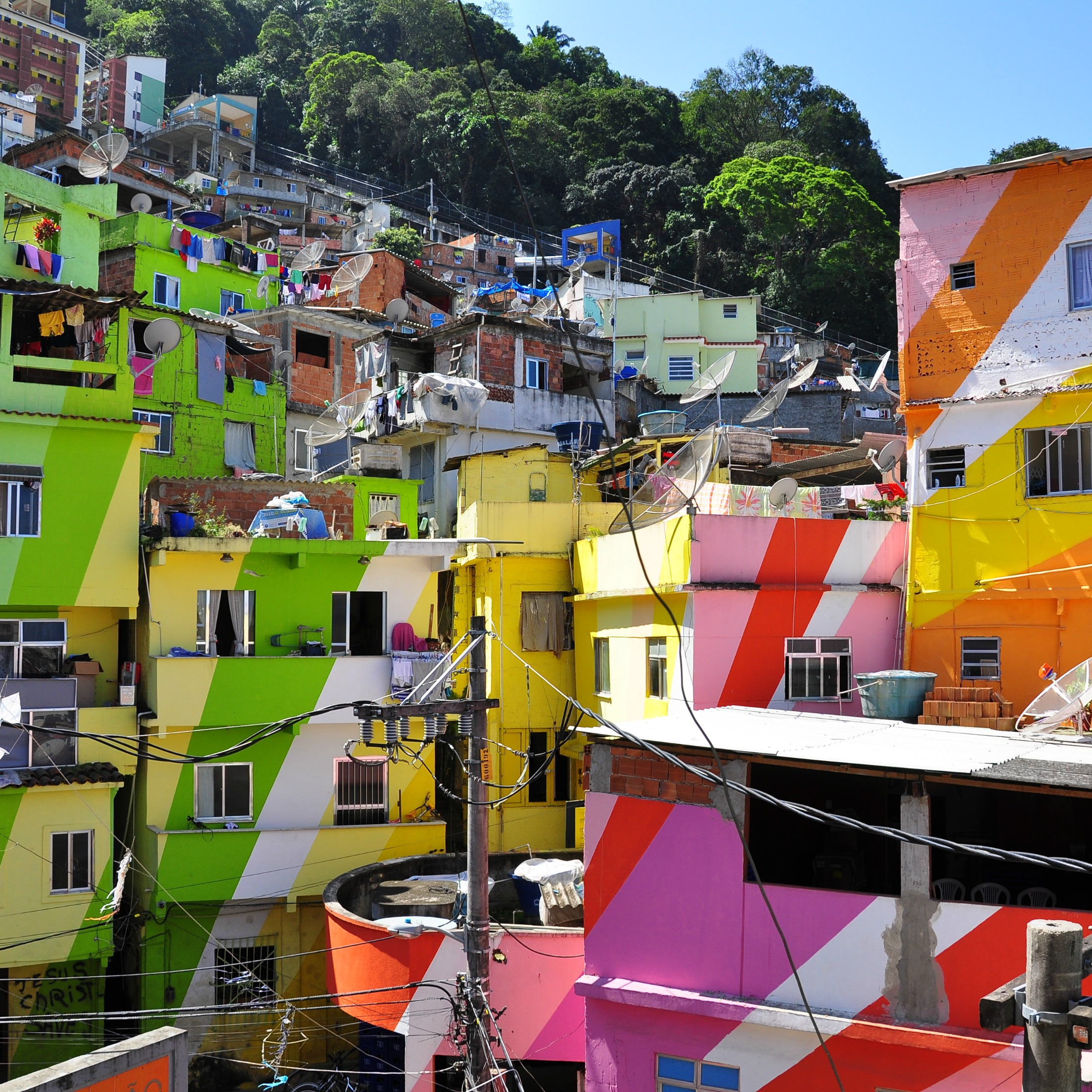colourful houses in a rio favela