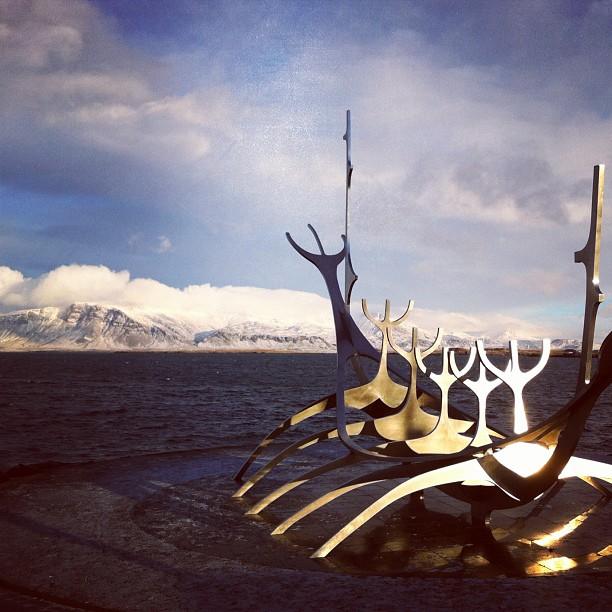 Solfar on the Sculpture and Shore Walk in Reykjavik