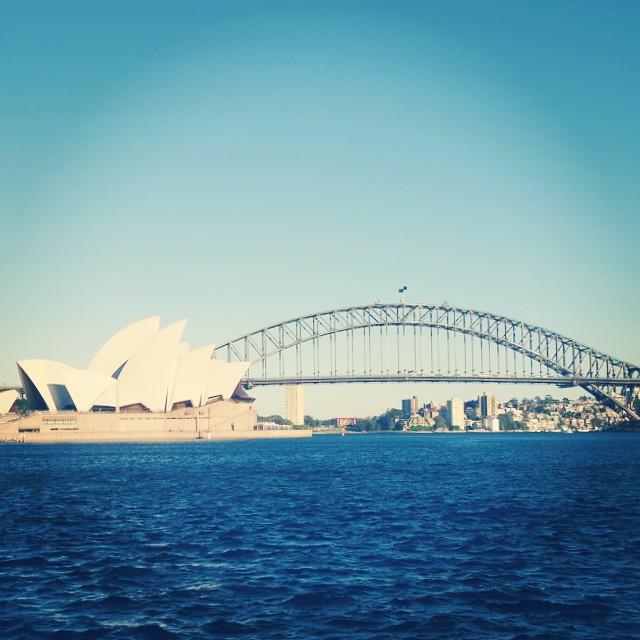Sydney Opera House and Harbour Bridge from Botanic Garden
