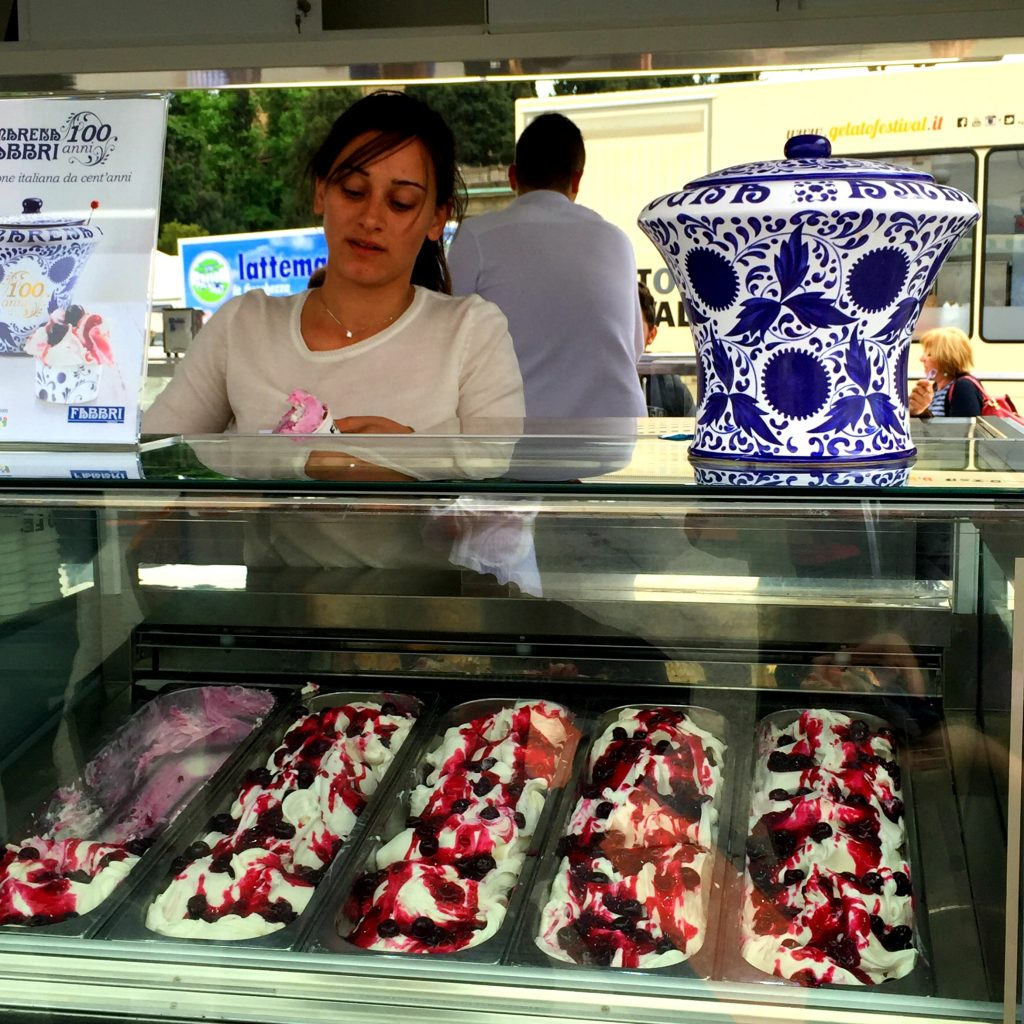 gelato display in florence