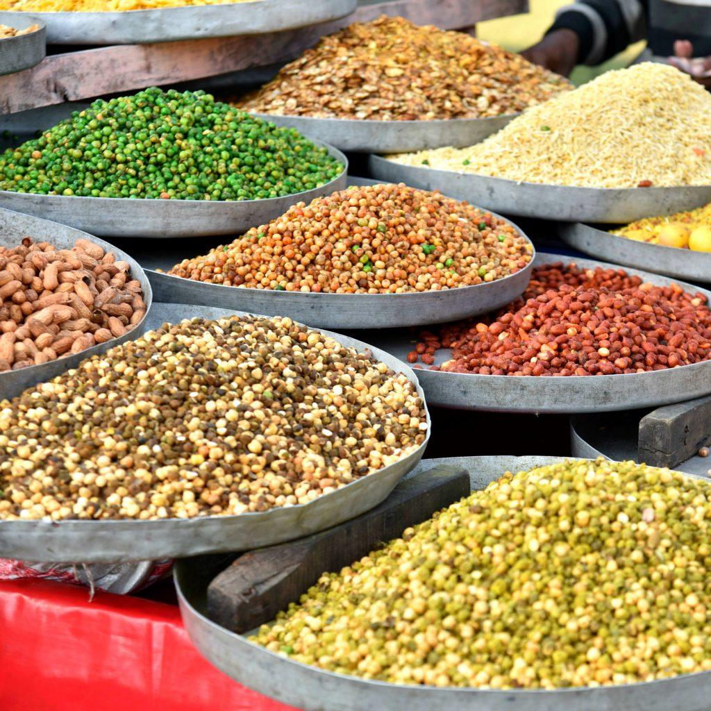 bowls of lentils in jaipur