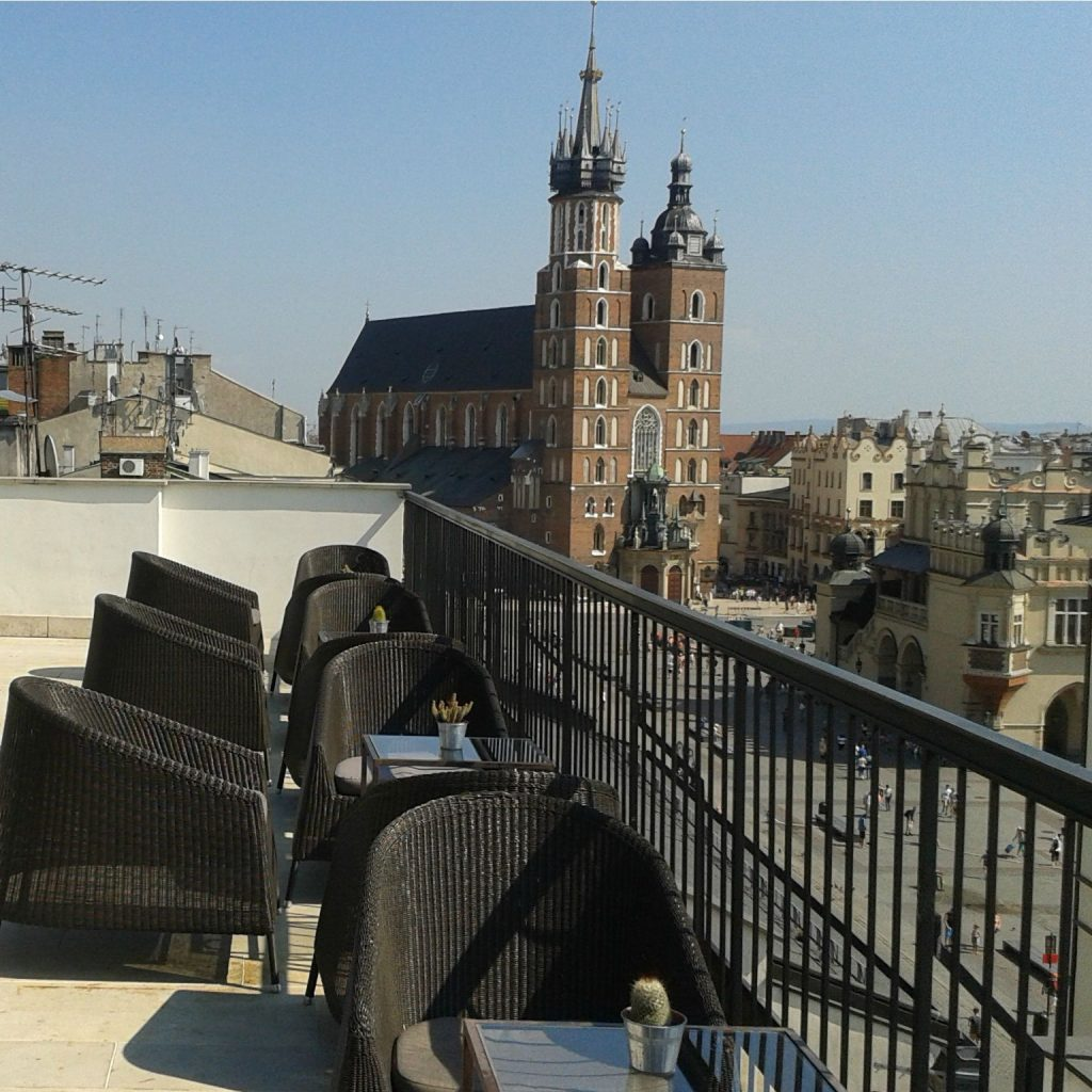 krakow cafes with a view