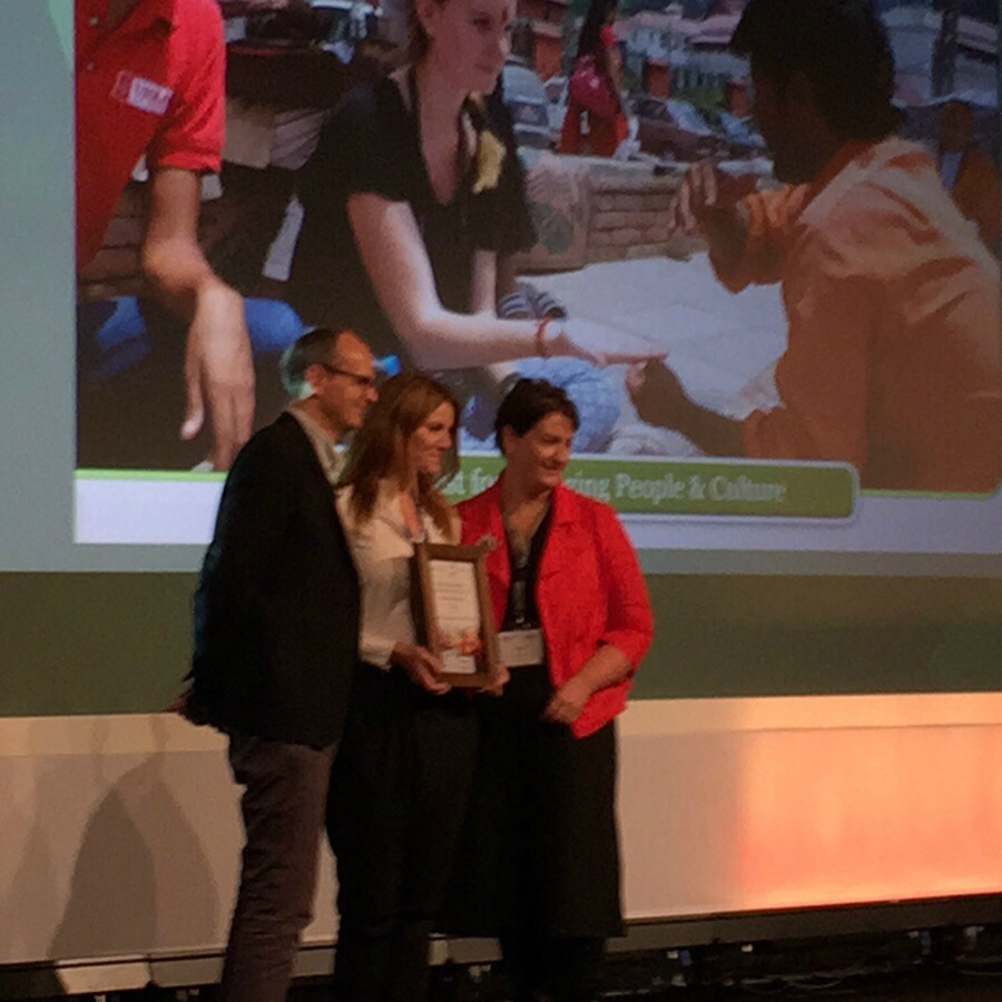 Claiming our award at the World Responsible Tourism Awards