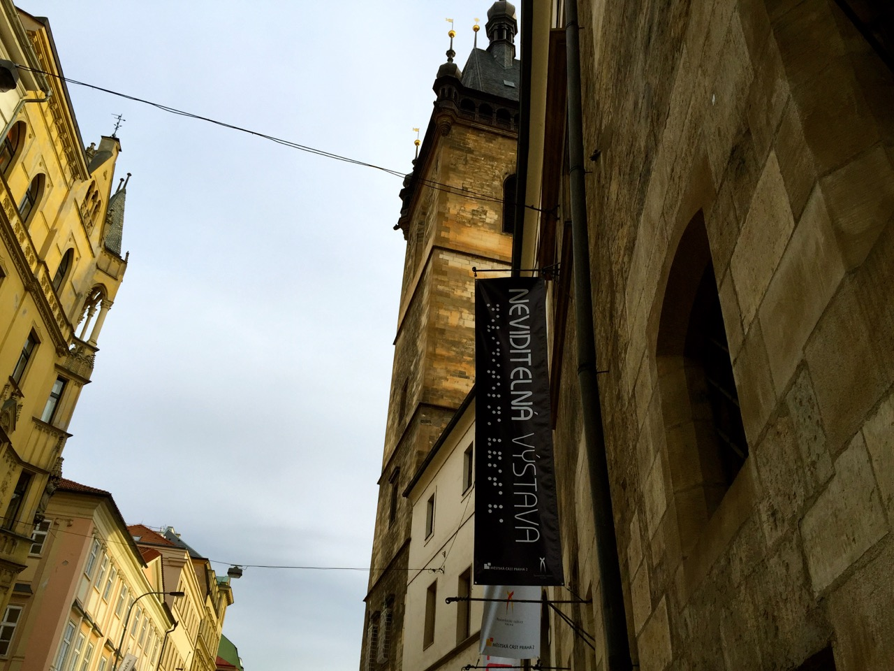 sign for Invisible Exhibit in Prague