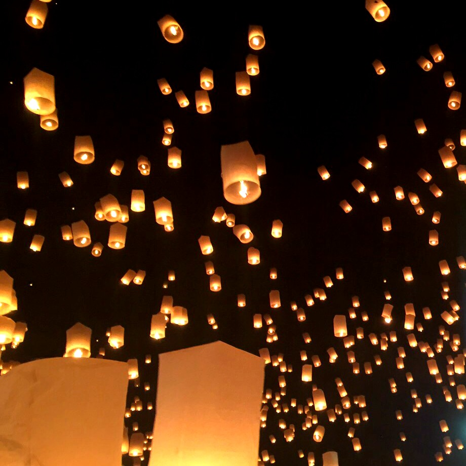 lanterns released at chiang mai festival