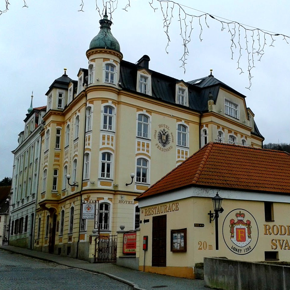 exterior of a czech brewery