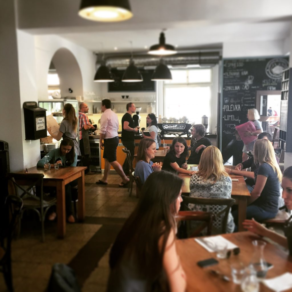 Where to brunch in Prague - Interior of Kavy cafe in Prague