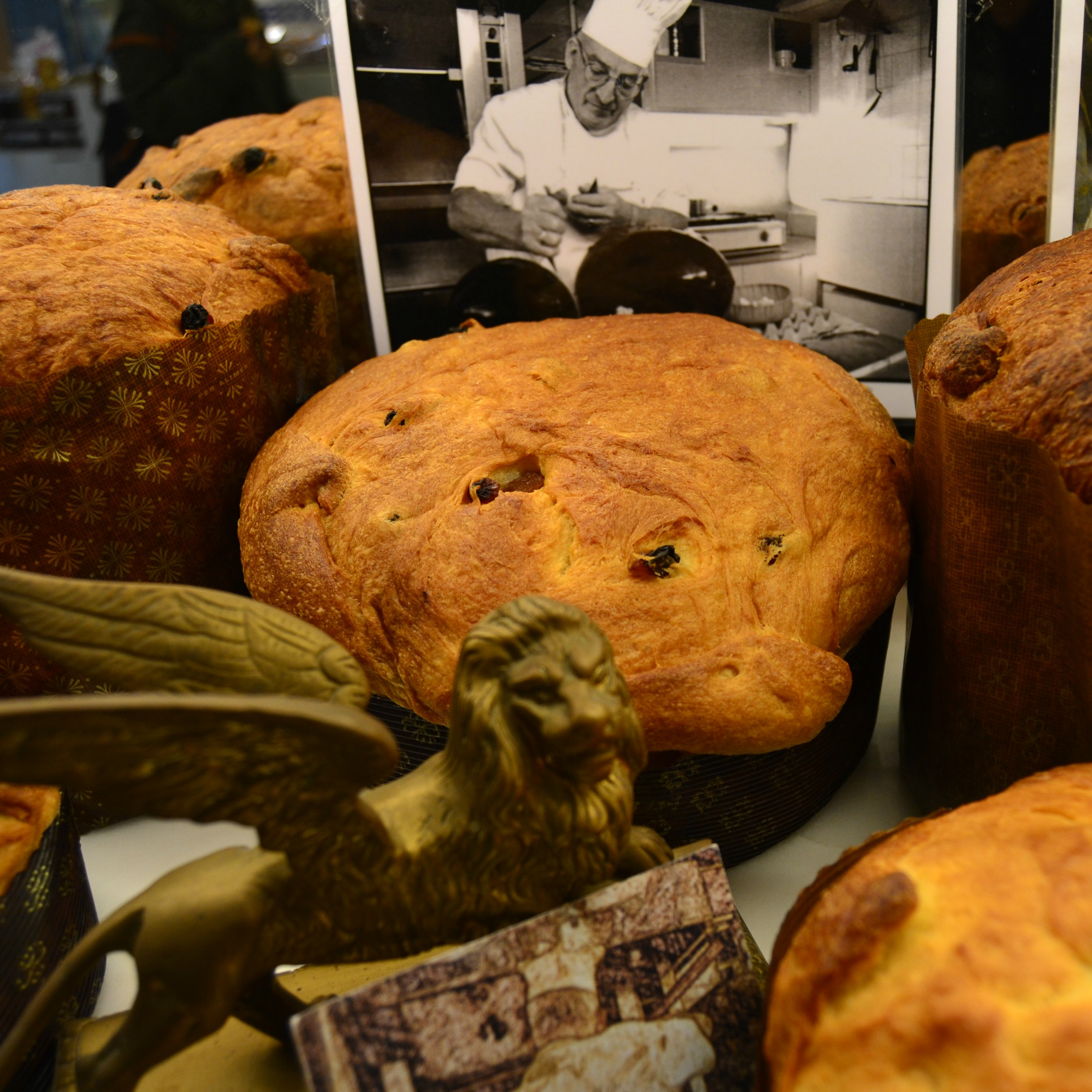 panettone on display in venice