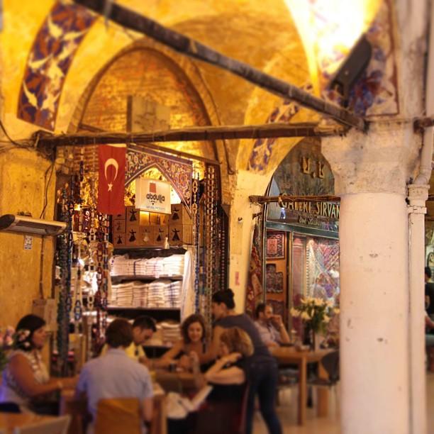 sitting area in istanbul's grand bazaar
