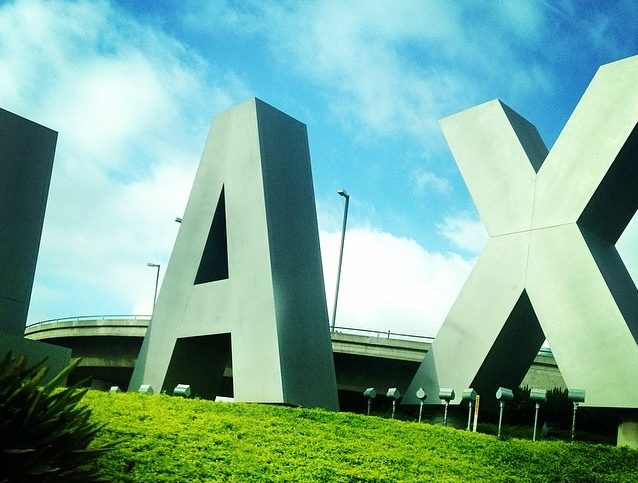 lax sign at los angeles airport