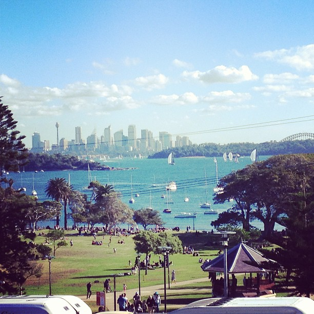 view from watsons bay in sydney