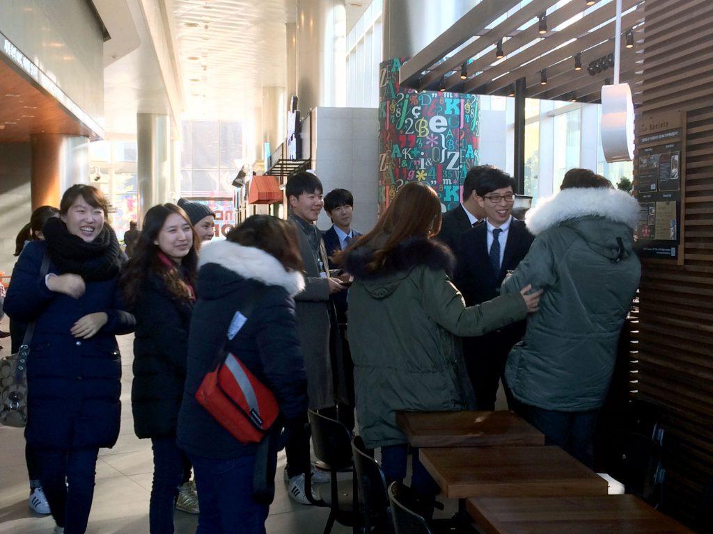 Meeting Korean star Yoo Jae Suk in Seoul