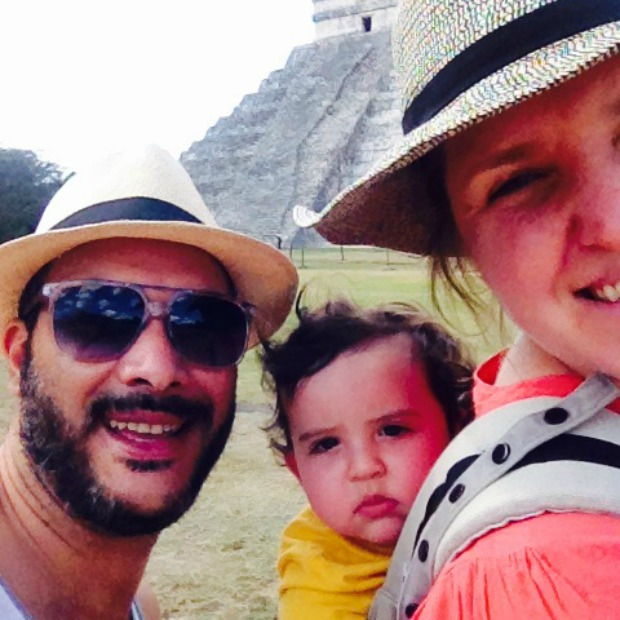 family travelling in Mexico