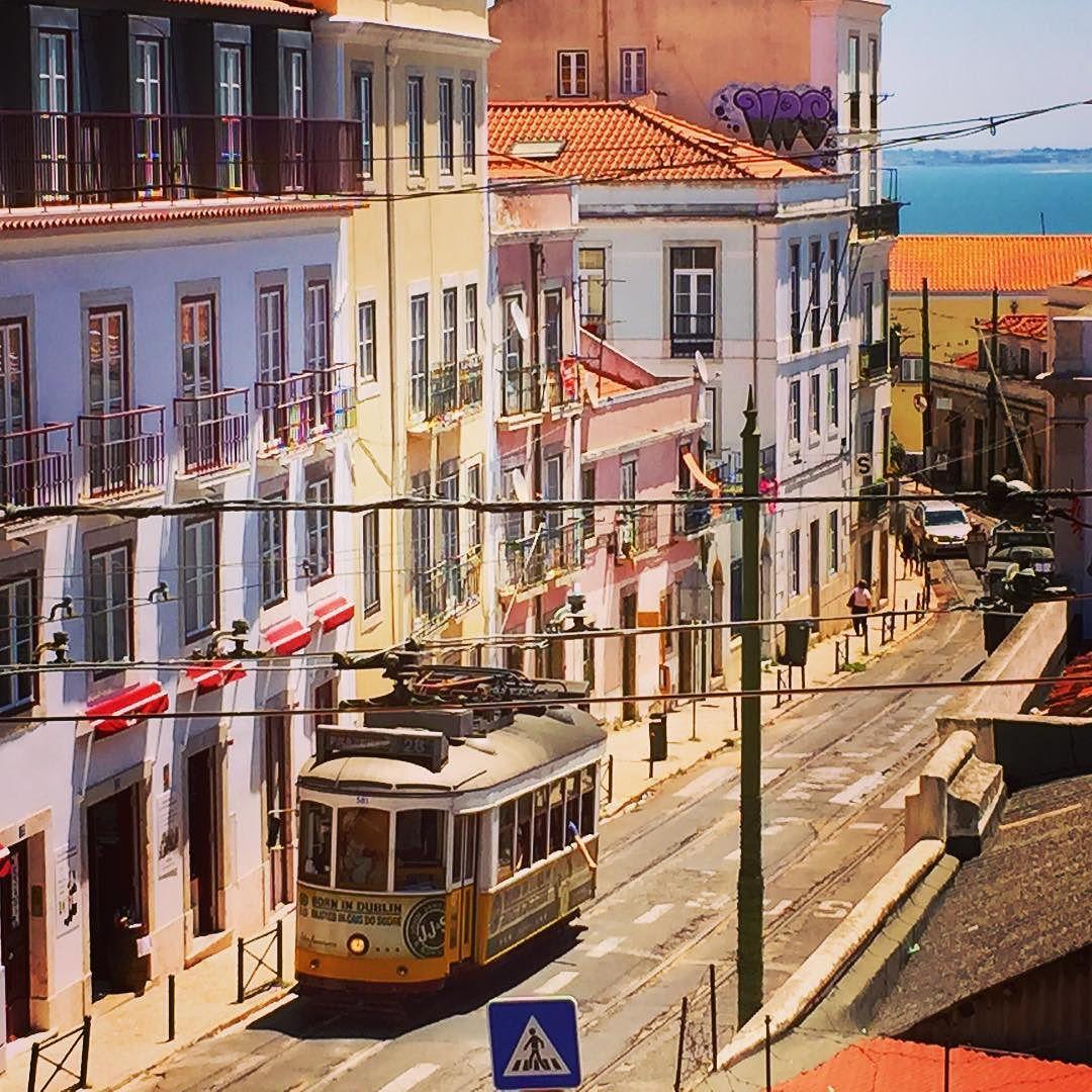 public transit tram in lisbon