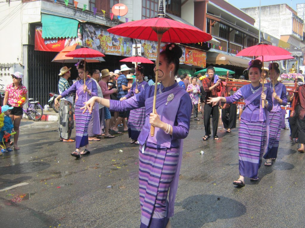 beauty pageant procession in chiang mai