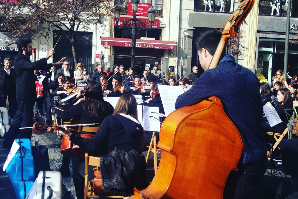 Street orchestra in Valencia