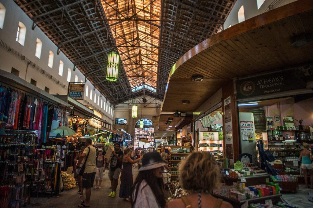 the covered market in chania