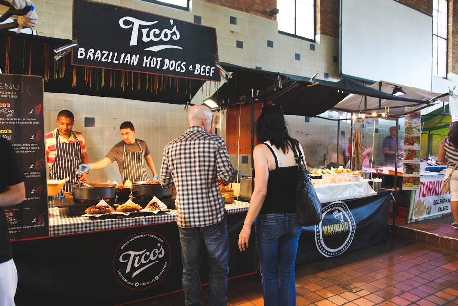Tico's stand at the London Brick Lane Markets
