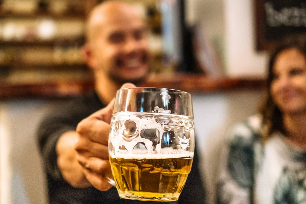 Cheers to a pint in Prague