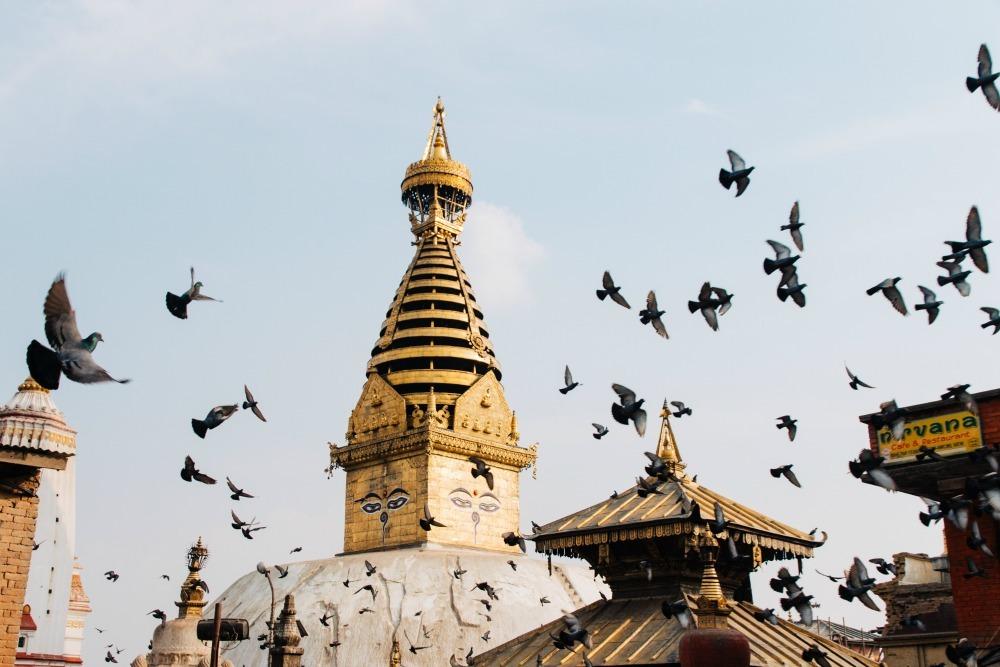 Swaymabhunath Temple in Nepal
