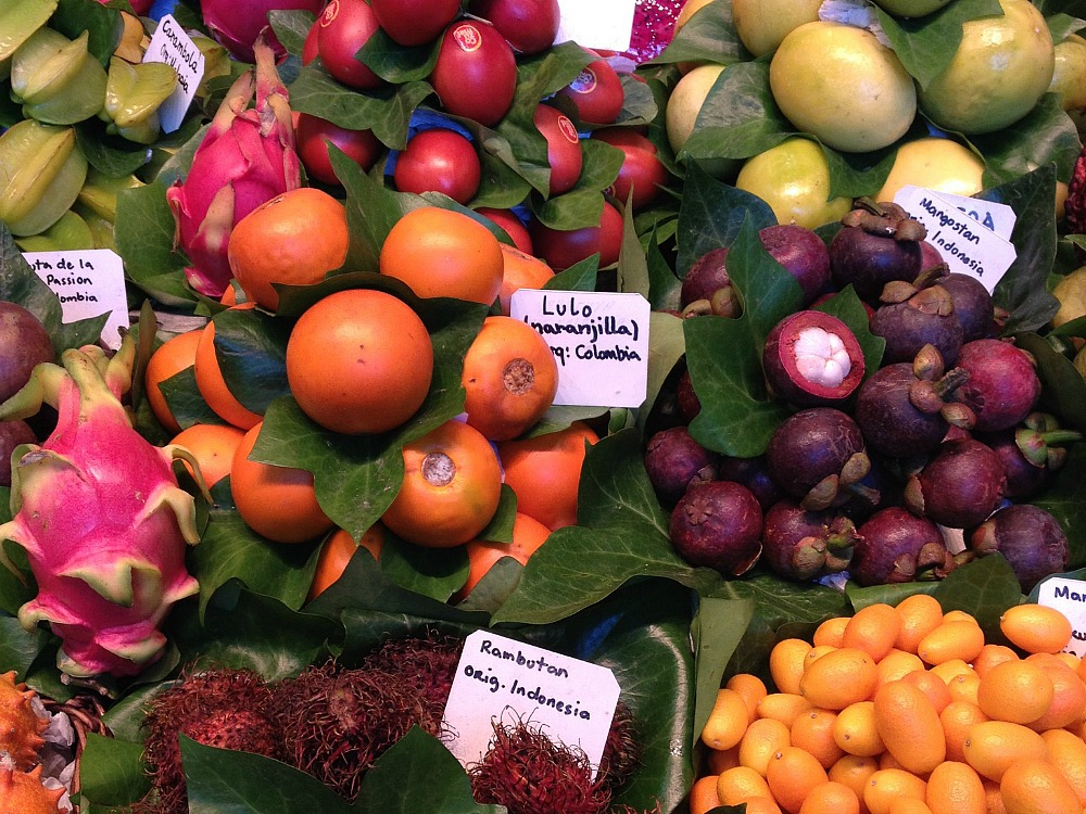 Produce on display in Barcelona
