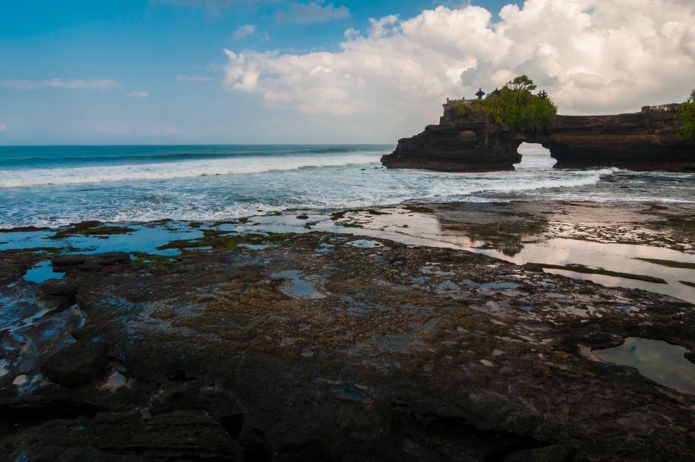 oceanside temple in Bali
