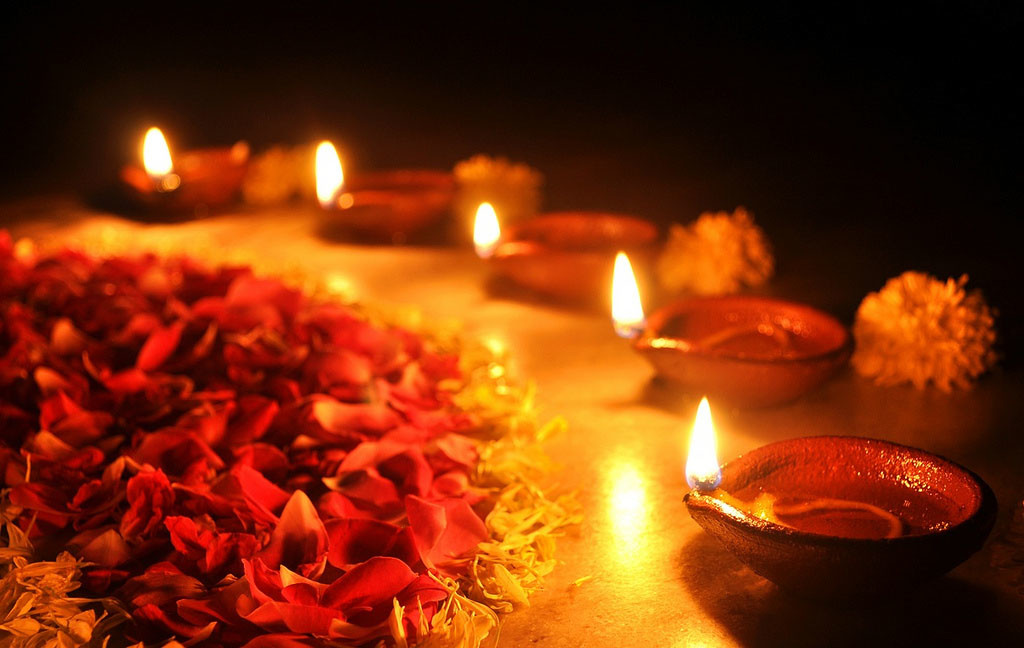 Candles at Diwali