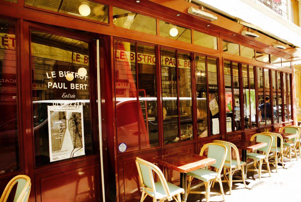 Exterior of a bistro in Paris