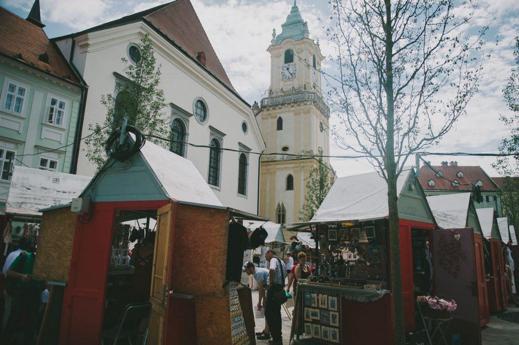 market in Bratislava