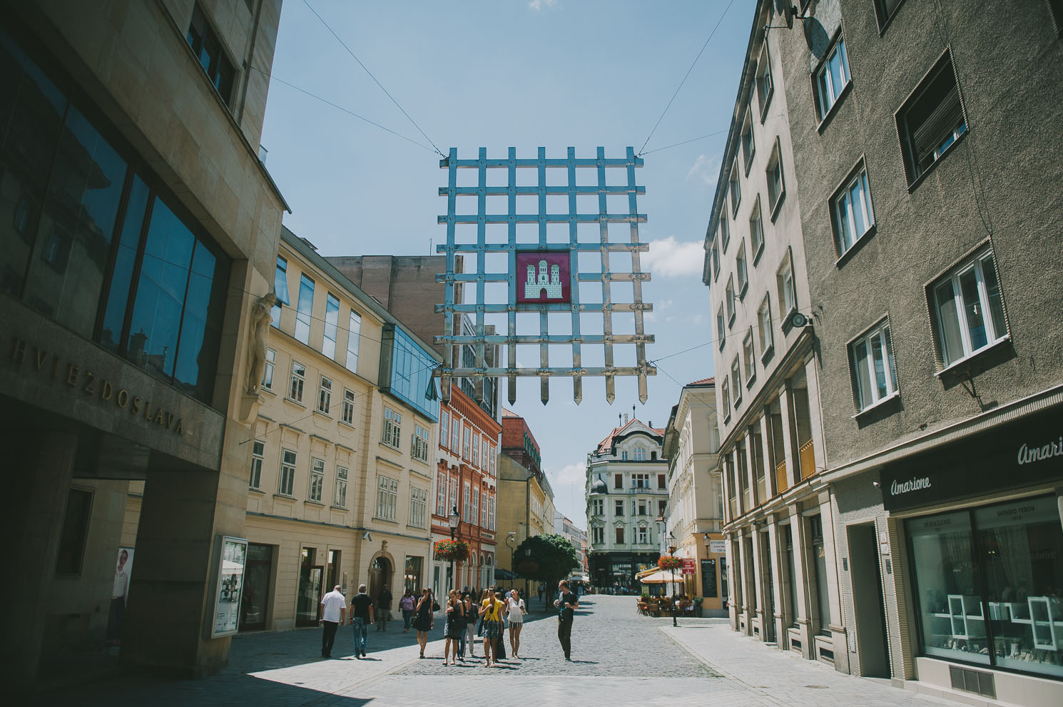 hanging gate in Bratislava