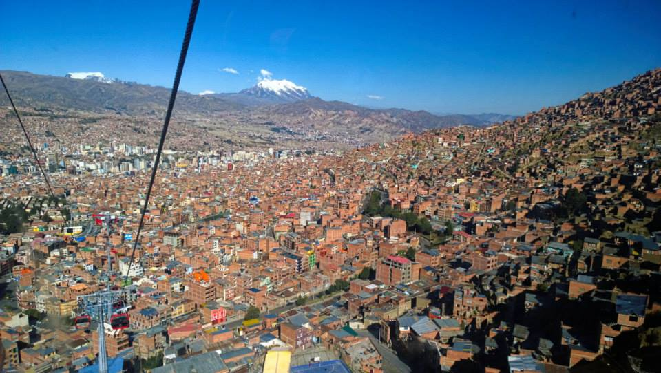 view of La Paz from above