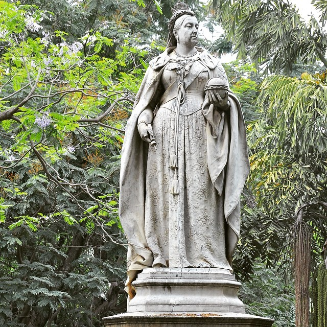 statue in Cubbon Park in Bangalore