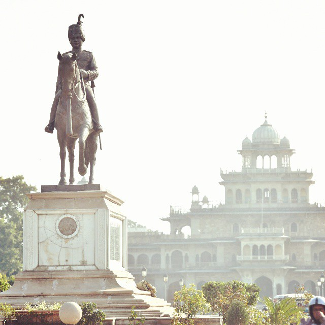 statue in the city of Jaipur