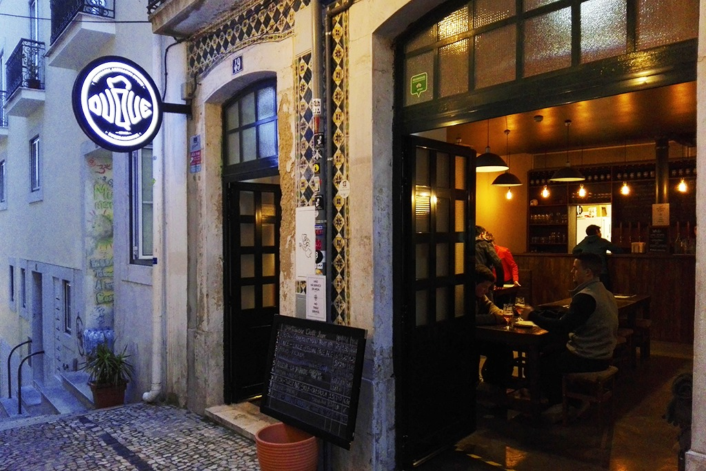 exterior of brewpub in Lisbon