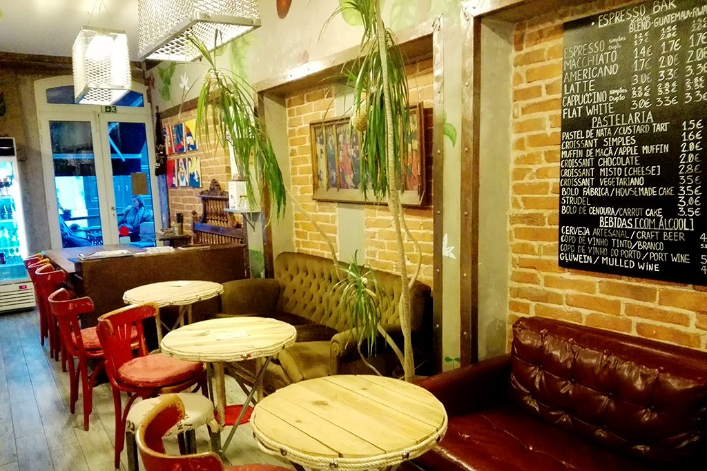 interior of a coffee shop in Lisbon