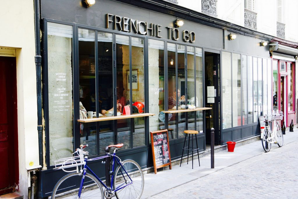 exterior of neo-bistrot in Paris