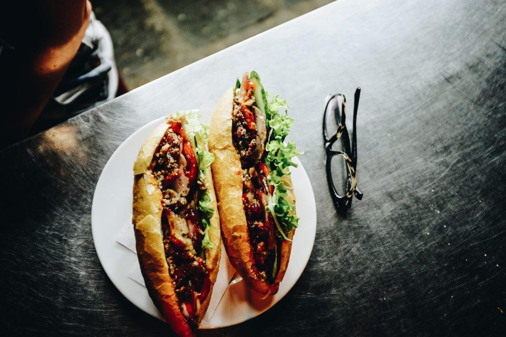 Banh mi sandwiches in Vietnam