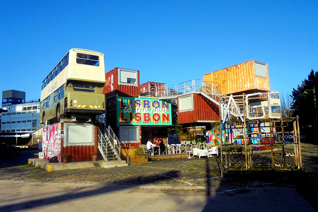 converted shipping containers in Lisbon