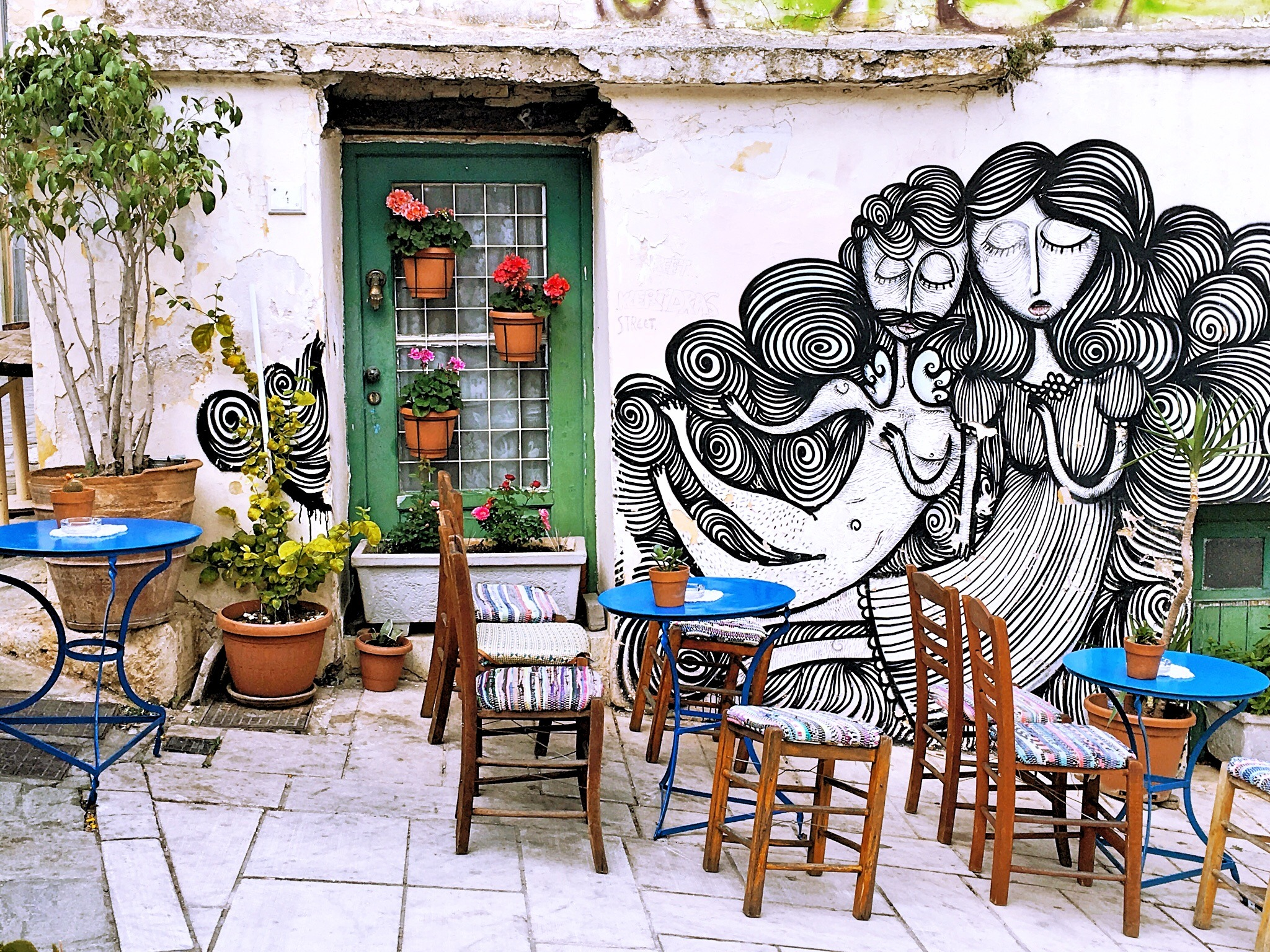 outdoor patio in Athens