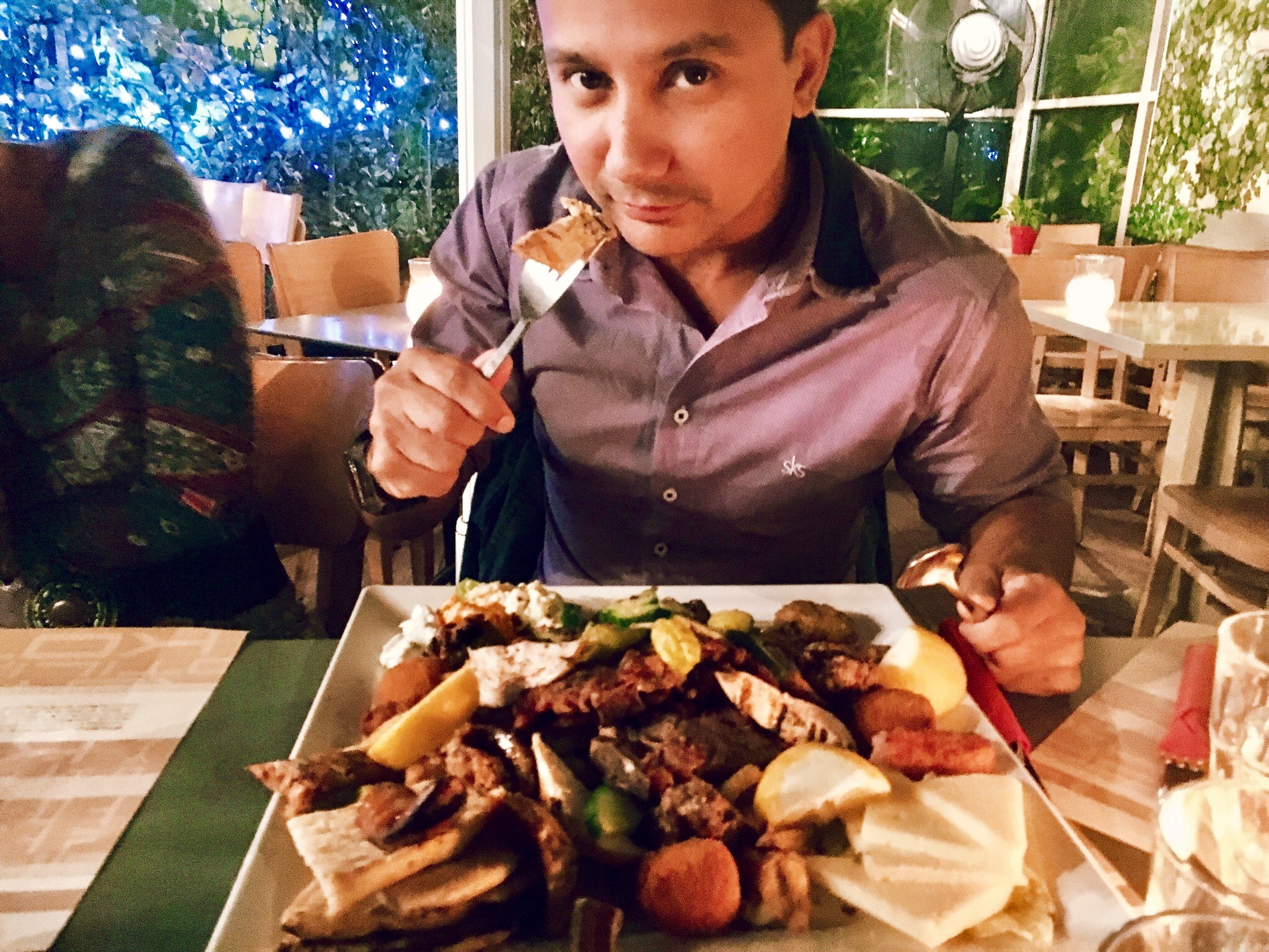 Plate of souvlaki