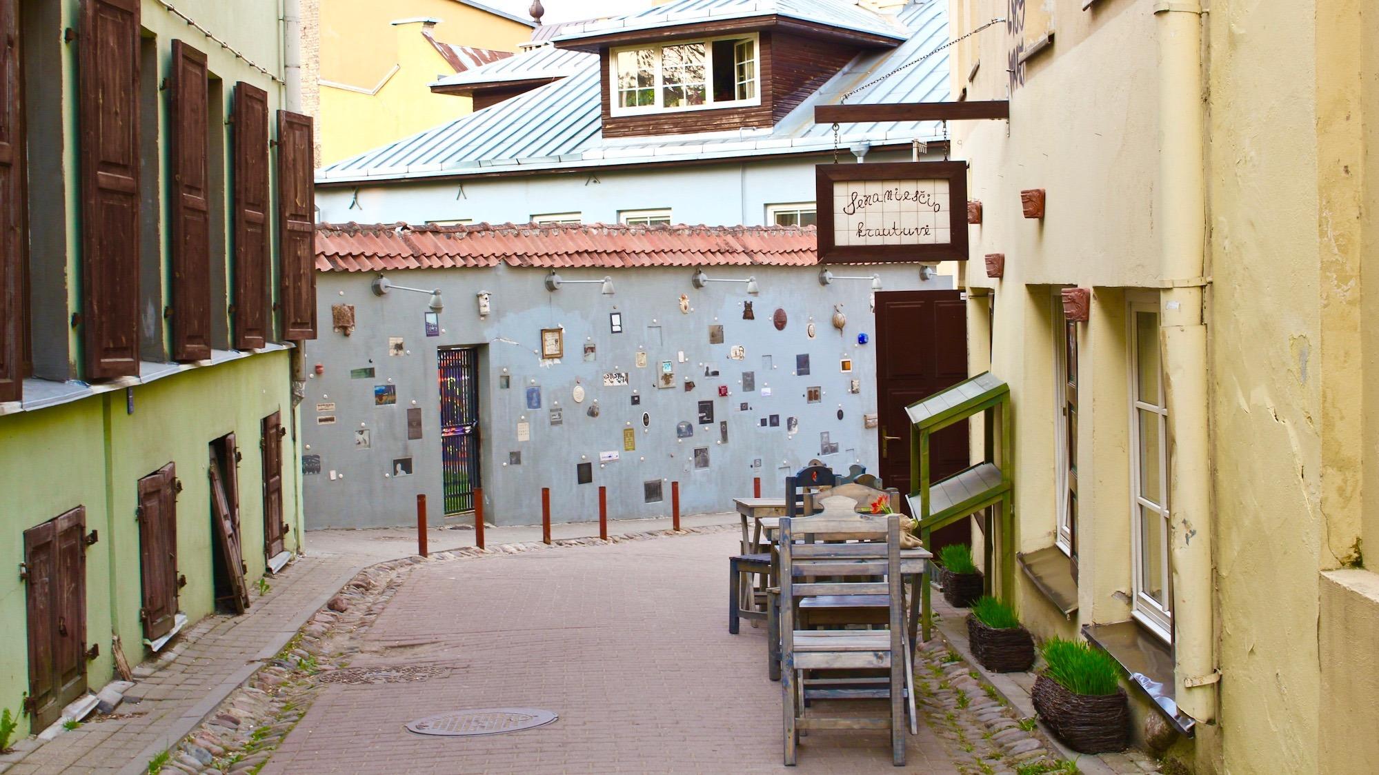 Cafe tables in Vilnius