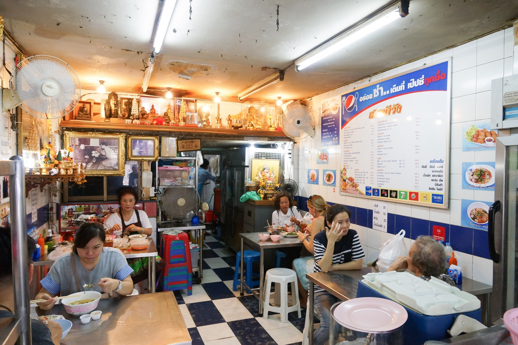 interior of a small restaurant in Bangkok