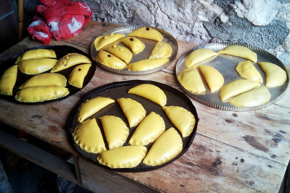 plates of empanadas at Easter