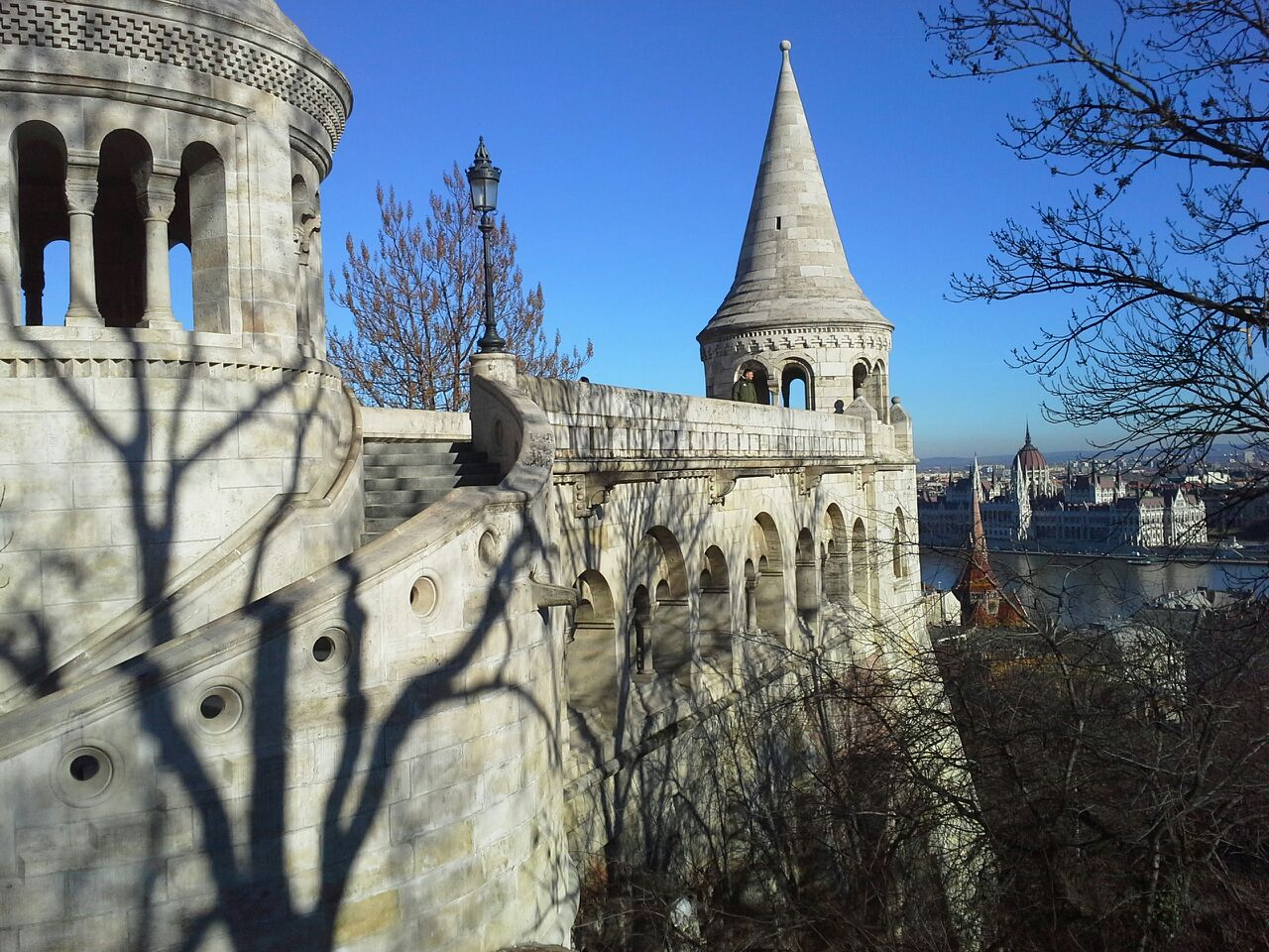 old castle wall in Budapest